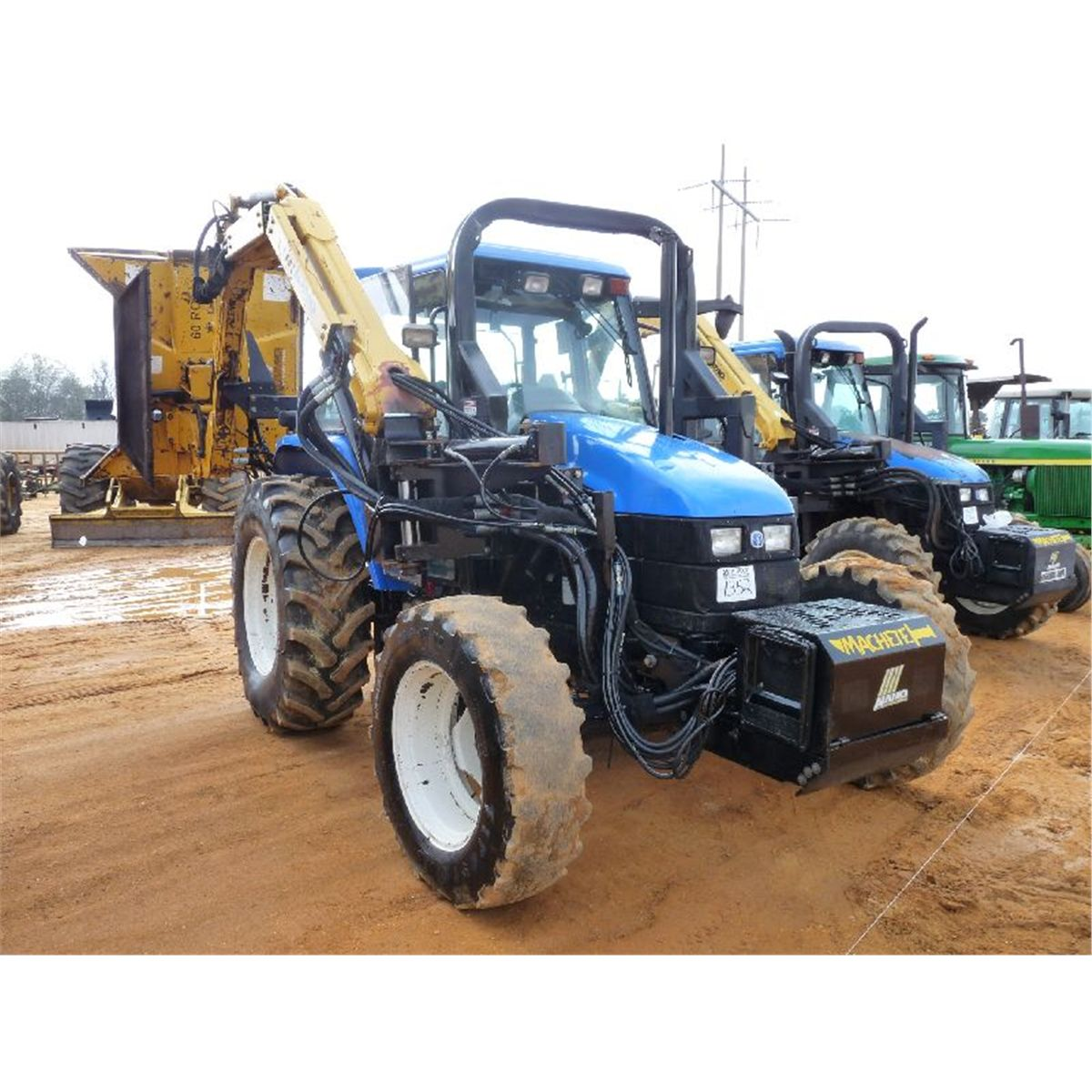 new holland ts110 4x4 farm tractor j m wood auction company inc. Black Bedroom Furniture Sets. Home Design Ideas