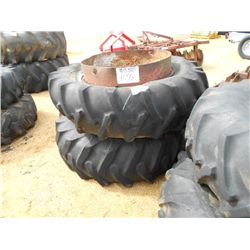 (1) LOT 2 TRACTOR TIRES & WHEELS