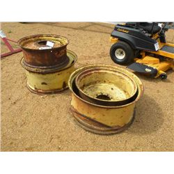 (1) LOT 4 TRACTOR WHEELS