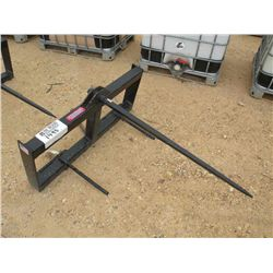 (UNUSED) HAY SPEAR ATTACHMENT FOR SKID STEER