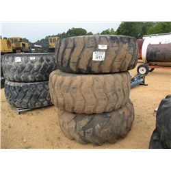 (3) 23.5-25 TIRES WITH RIMS