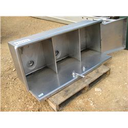 3 SECTION STAINLESS SINK