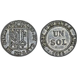 Switzerland. Geneva. Nice 1 Sol 1825. Choice XF