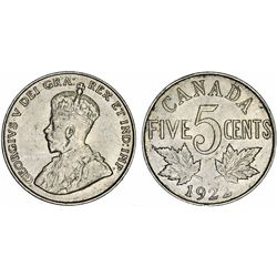 Canada. king George V (1910-1936). 5 Cent 1922. Choice AU