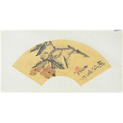 Xu Gu (1824-1896) Fan Painting on Paper