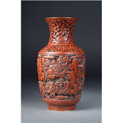 Chinese Carved Cinnabar Lacquer Vase