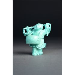 Chinese Carved Turquoise Figure of Immortal