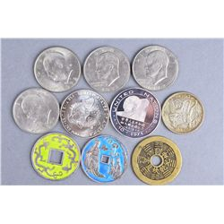12 Large Assorted Chinese Coins