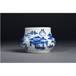 Chinese Blue & White Inkwell Ming Chenghua