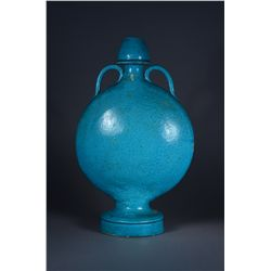 Asian Porcelain Turquoise Flask 19th Century