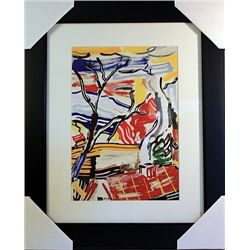 Roy Lichtenstein Limited Edition-Landscape with Red Roof