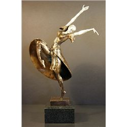 Chiparus Bronze and Silver Sculpture