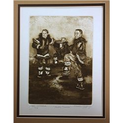 Charles Jeffrey Limited Edition Etching   Artict Dancers