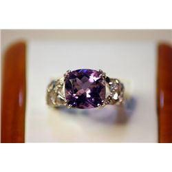 Lady's Fancy  Silver Amethyst Ring