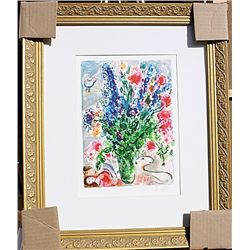 Les Lupin Bleu - Chagall - Limited Edition