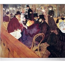 Limited Edition Lautrec- At The Moulin Rouge  - Collection Domaine Lautrec