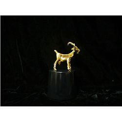 Dali 24K Gold Plated Bronze Sculpture - Billy Goat
