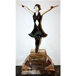 Signed Chiparus Bronze and Ivory - Star