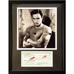 Marlon Brando   Giclee with  Image of  real check
