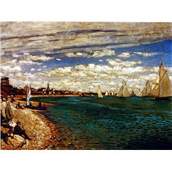 Regatta at St. Adresse by Monet