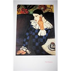 Limited Edition Picasso - Harlequin Leaning On His Elbow - Collection Domaine Picasso