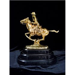 Remington 24K Gold Layered Limited Edition Sculpture -Trooper Of The Plains