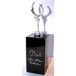 Dali  Real .999 Silver Sculpture - Lovers
