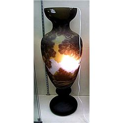 Galle Signed Mountainscape Urn-Shaped Vase