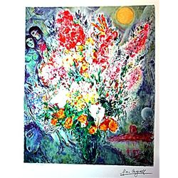 Marc Chagall Limited Edition - Original Bouqet
