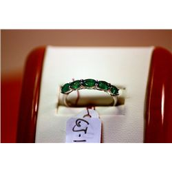 #121 - Fancy Ladys Columbian Emerald Ring