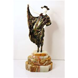 Argentinian Dancer - Bronze and Ivory Sculpture by Chiparus