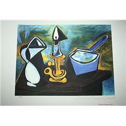 Limited Edition Picasso - Still Life with Candle - Collection Domaine Picasso