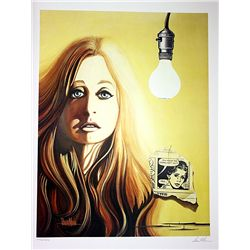 David Mann Signed and Numbered Lithograph - Girl with Lightbulb