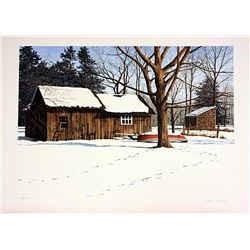Helen Rundell Signed and Numbered Original Lithograph - Wolf Tracks