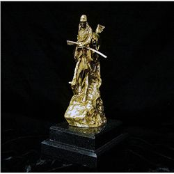 Remington Limited Edition 24K Gold Layered Bronze Sculpture  -Mountain Man