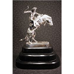 Large Remington Real .999 Silver -Bronco Buster