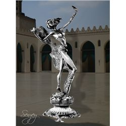 Egyptian Dancer - Limited Edition Real Silver Sculpture by Sergey