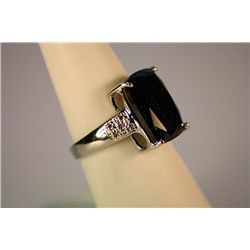 Lady's Gorgeous  White Gold Sapphire &amp; Diamond Ring