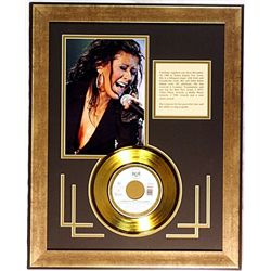 Cristina Aguilera  Giclee with Gold Record