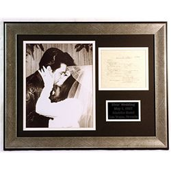 Elvis & Priscilla   Wedding,  Black & White  Giclee