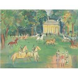 Horses - Jean Dufy - Limited Edition on Canvas