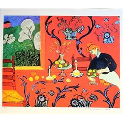 Limited Edition Matisse- The Red Room - Collection Domaine Matisse