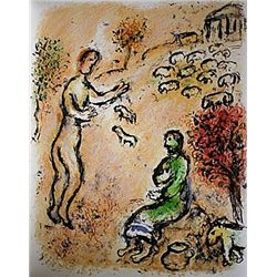 Ulysses and Eumaeus by Chagall from the Odyssey Suite.