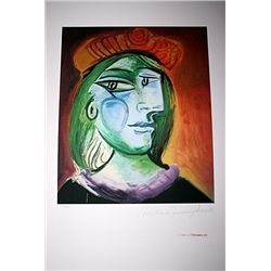 Limited Edition Picasso - Lady With Green Hair and Brown Hat - Collection Domaine Picasso
