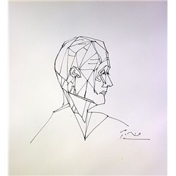 Original Ink wash on laid paper - signed by Picasso