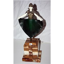 Actress - Bronze and Ivory Sculpture by Chiparus