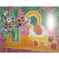 Pineapple and Anemones by Henri Mattisse  Lithograph