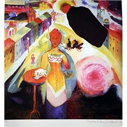 Limited Edition Kandinsky- Lady In Moscow - Collection Domaine Kandinsky