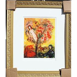Tree Over Village  - Chagall - Limited Edition