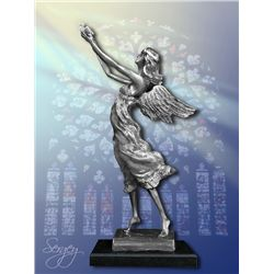 Angel of Peace - Limited Edition Real Silver Sculpture by Sergey